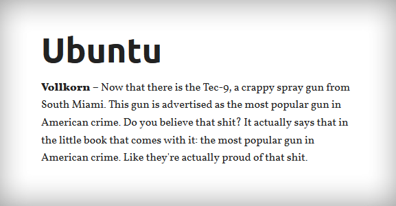 Ubuntu & Vollkorn Webfont